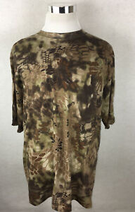 Kryptek Stalker T Shirt XXL/2XL Hunting Camouflage Camo Short Sleeve Patches