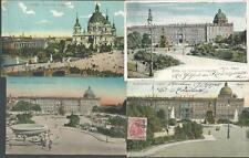 Berlin 4 gebrauchte Karten aus 1903, 1908, 1912! Königliches Schloss +Lustgarten