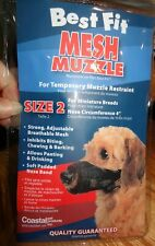 New Coastal Pet Best Fit Open Nosed Mesh Dog Muzzle Size 2 for Miniature Breeds