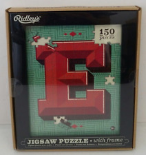 Ridley's $25 NWT 150 Piece Jigsaw Puzzle With Frame Letter E NWT