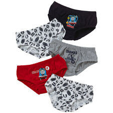 NEW 3 Pairs of Boys Navy Black Ribbed Cotton Pants Full Briefs Age 2-3 Years A55
