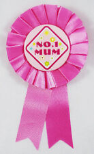 NO1 MUM ROSETTE MOTHER'S DAY PINK BADGE NO.1 BIRTHDAY MOTHERS DAY GIFT FREE P+P