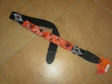 BEADED GUITAR STRAP SPIDERS HAND MADE BEADLOOMED BLACK  STRAP WITH SPIDERS/WEB