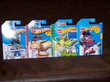 HOT WHEELS - LOT OF 6 - 2 TIME MACHINES - SIMPSONS - SKATE PUNK - BOOM CAR - NEW