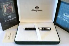 MONTEGRAPPA SYMPHONY ROLLERBALL PEN IN CHARCOAL CELLULOID & SILVER 925 - NEW