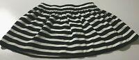 KATE SPADE New York Mini Skirt Black & White Striped Zip Back Girl 12 MONTHS