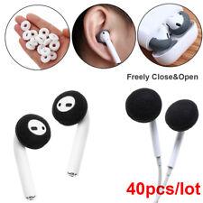 40PCS Black White Soft Foam Sponge Ear Pad Earbud Cap For Airpods Earpods Cover