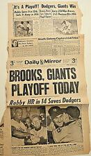 Original 1949-1952 100's of JACKIE ROBINSON NEWSPAPER CLIPPINGS,Brooklyn Dodgers