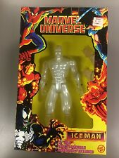 "Marvel Universe Deluxe Edition Ice man 10"" Tall Figure NIP"