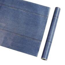 Blue Denim Pattern Vinyl Contact Paper Self Adhesive Wallpaper Shelf Liner Decor