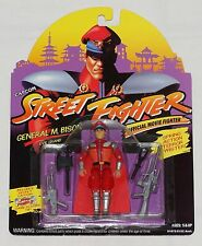 Street Fighter General M. Bison Official Movie Fighter Hasbro Capcom 1993 MOC