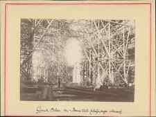 Paris, Grand Palais des Beaux Arts pendant la construction (échafaudages intérie