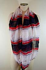 Cejon Infinity scarf RED HAND PAINTED Acrylic Nice $20