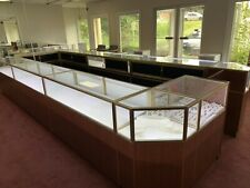 Custom Made 28 Piece Jewelry Showcases With In Built Led Lights Lock And Storage