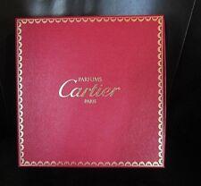 "Cartier Empty Rare Parfums Paris Box W Pillow 10 1/2"" X 10 1/2"" X 3"" New Vintage"