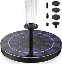 Outdoor Solar Power Bird Bath Water Fountain Pumps Home Pool 4 Sprinkler Garden