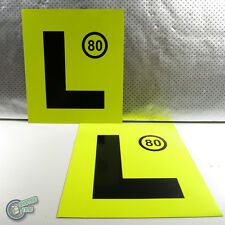 2 YELLOW L MAGNETIC PLATE Learner Legal Magnet Driver License Motorcycle Car Van