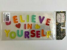 NEW Gel Window Cling Decorations BELIEVE IN YOURSELF 19 pcs Inspirational Class!