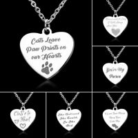 Fashion Stainless Steel Heart Shape Letters Pendant Necklace Friendship Jewelry