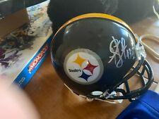 *NEW HOFer* Pittsburgh Steelers Troy Polamalu signed Riddell Mini Helmet MM COA