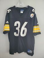 Rare VTG 90s Adidas NFL Pittsburgh Steelers JEROME BETTIS 36 Jersey Mens XL Bus