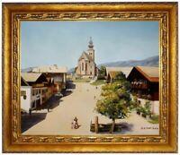 St-Veit im Pongau, Stadtplatz, Ölbild, Ölgemälde HANDGEMALT F:50x60cm