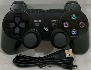 WIRELESS CONTROLLER GAMEPAD FOR PLAYSTATION 3 WITH VIBRATE & CHARGE CABLE PS3