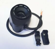 "CCTV Camera Lens, 8mm auto Iris, direct drive, CS Mount, 1/3"" format, Japanese."