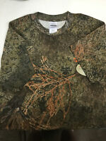 Youth NWT Mossy Oak Camo Distressed Tee Short Sleeve T-Shirt Cardinal Red Size M