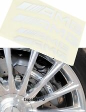 Set of 4 NEW WHITE HI TEMP A.M.G Decal sticker vinyl caliper brake
