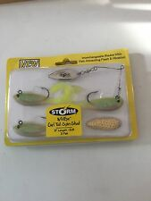 STORM PRO PADDLE TAIL SOFT BAIT STRIPPED BASS FISHING LURE LOT 4