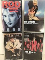 Lot Of 4 Rod Stewart Cassette Tapes Camouflage Body Wishes Blondes Have More FS!