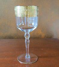 Glastonbury Lotus Goldenrod Gold Encrusted Water Goblet(s)