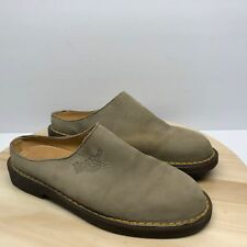 Dr Martens Docs 8214 Taupe Womens Slip On Mules Made In England Shoes Sz 6 (DC7)