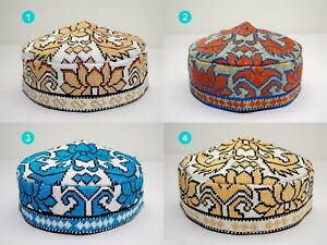 Best quality Uzbek Hat silk embroidery bohemian Muslims Kufi Cap Suzani Doppi