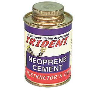 Trident Neoprene Contact Cement - 4oz Can w/ Brush Neoprene Wetsuit Repair LP31