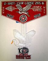 O-SHOT-CAW 265 SOUTH FLORIDA 2-PATCH NOAC 2015 OA 100TH FLAP SMY RED FELT DANGLE