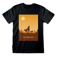 Womens Star Wars The Mandalorian Boyfriend Fit T Shirt Retro Style Poster