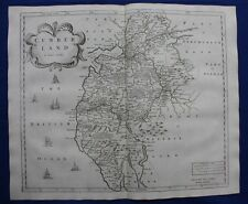 CUMBERLAND original antique map from CAMDEN'S BRITANNIA, Robert Morden, 1722