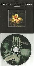 VISION OF DISORDER Living to Die / On the table 2TRK SAMPLER PROMO DJ CD single
