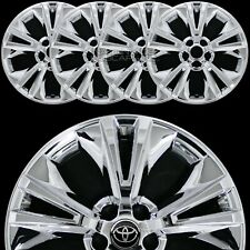 "4 fit 2014-19 Toyota Highlander 18"" Chrome Wheel Skins Full Rim Covers Hub Caps"
