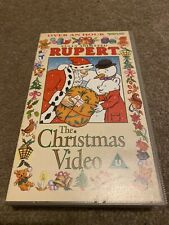 Rupert: The Christmas Video - Fully Animated - Classic Adventures - Kids - VHS