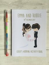 Childrens, Kids Personalised A6 Wedding Activity Pack, Book, Favour, with pencil