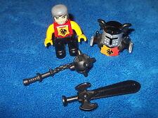 Lego Duplo Ritterburg Ritter Rüstung Morgenstern Schwert 4785 4777 4779