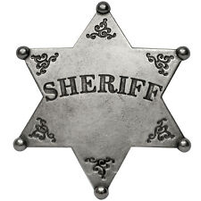 American United States Western Old West Lawman Classic Western Sheriff Badge