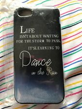 Blue Inspirational Quote Firm Plastic Phone Case For iPhone 5C