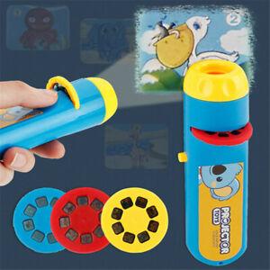 Kids Portable Flashlight Projection Realistic The Animal World Education Toys