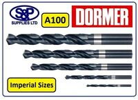 "IMPERIAL SIZES DORMER A100 HSS JOBBER DRILLS DRILL BITS FROM 1/32"" TO 1/2"""