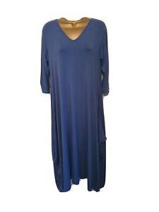 Join Clothes V Neck Maxi Dress - Indigo - Medium