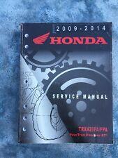 2009- 2014 Honda Trx420 Fa Fpa Fourtrax Rancher At Factory Service Shop Manual (Fits: Honda)
